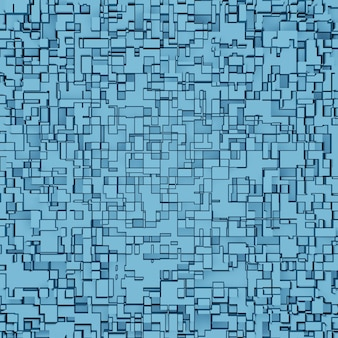 Abstract 3d square pixel geometric background, cube pattern or block texture for architecture design