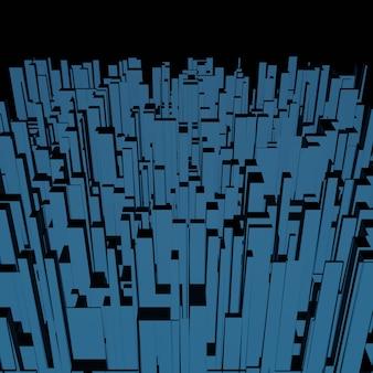 Абстрактный фон 3d квадратный пиксель геометрический, узор куба или текстура блока для архитектурного дизайна