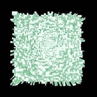 추상 3d 정사각형 픽셀 기하학적 배경, 큐브 패턴 또는 건축 설계를위한 블록 텍스처