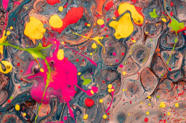 Abstract acrylic effect of variety of colourful shapes