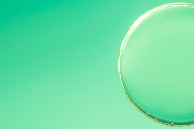 Abstract air bubble in water on defocused gradient background