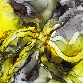 Abstract alcohol ink texture, macro photo