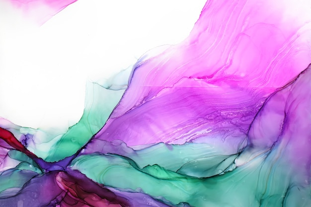 Abstract alcohol ink texture, macro photo Premium Photo