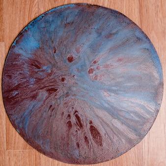 Абстрактная инопланетная планета жидкого акрилового цвета