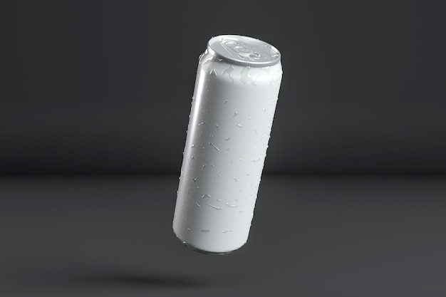 Abstract aluminum can presentation