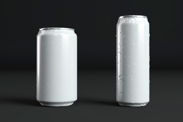 Abstract aluminum cans presentation