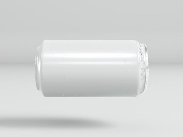 Abstract aluminum drink container presentation