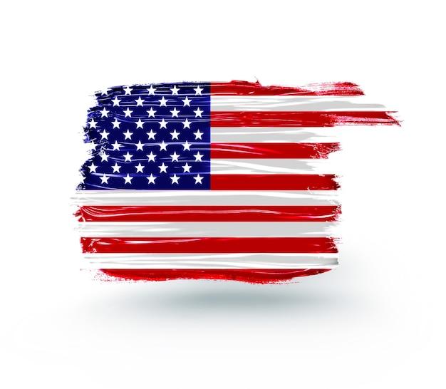 Абстрактный американский флаг на день независимости