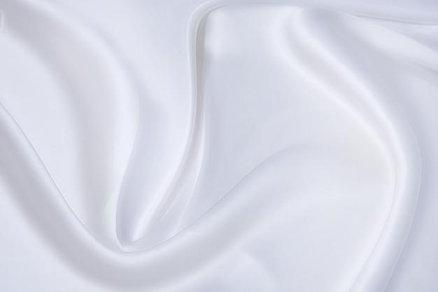 흰색 패브릭 배경, 흰색 질감 및 세부 사항의 추상 및 소프트 포커스 웨이브