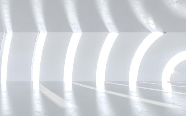 추상적 인 아키텍처 배경입니다. 3d 렌더링