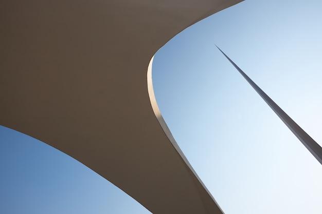 抽象的なアーキテクチャの背景テクスチャ構築