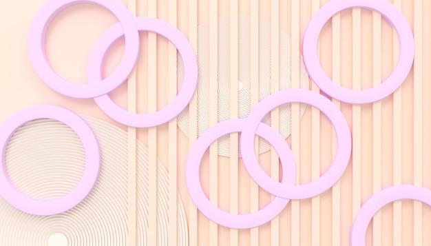 抽象的なアーキテクチャの背景の壁紙ピンクの色合い3dイラスト