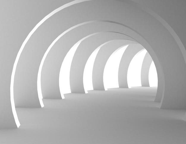 Абстрактная концепция дизайна архитектуры. 3d визуализированная иллюстрация