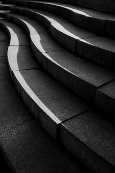 시멘트 계단의 추상 건축 디자인