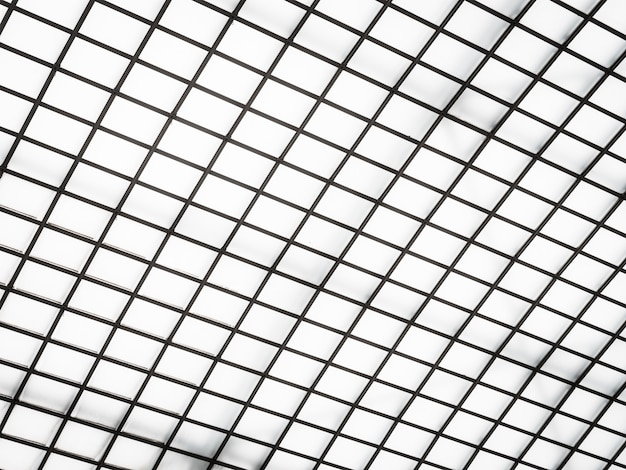 Abstract architecture of glass roof exterior