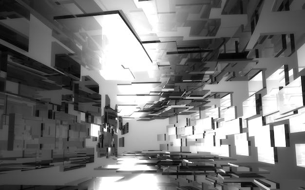 抽象建築トンネル。 3dイラスト