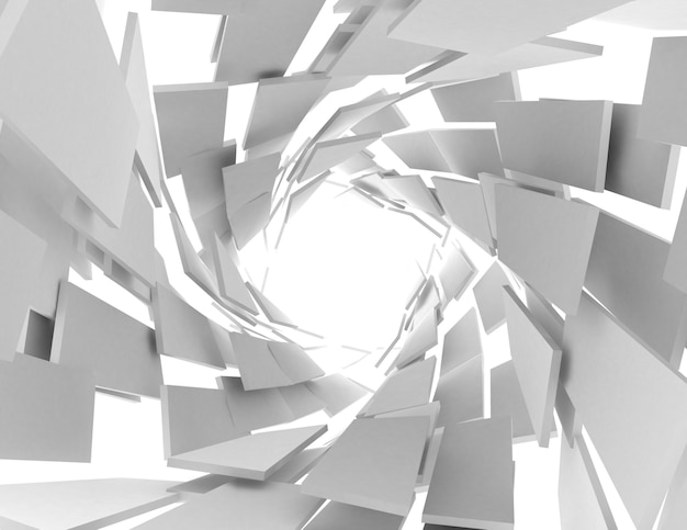 Abstract architecture tunnel background. 3d illustration