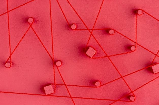 Абстрактное расположение сетевой концепции натюрморт