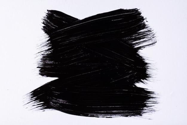 Абстрактное искусство фон черный и белый цвета. акварельная живопись на холсте с темными мазками и вкраплениями. акрил на бумаге с образцом. фон текстуры.