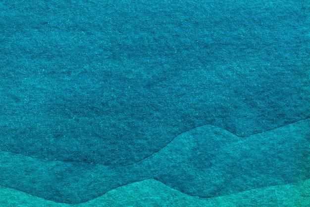 추상 미술 배경 파란색과 청록색 색상입니다. 청록색 파도 물 패턴 및 그라데이션 캔버스에 수채화 그림.