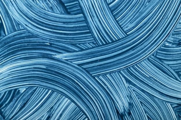 추상 미술 배경 블루 색상입니다. 하늘 선으로 수채화 그림. 붓 자국 곱슬 종이에 아크릴 삽화.