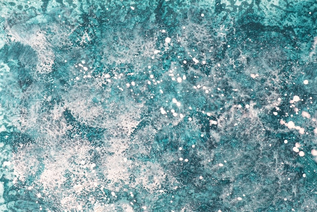 Abstract art background blue and white colors. watercolor painting on canvas with turquoise gradient.