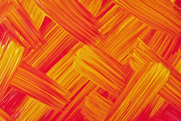 Abstract art background bright red and yellow colors. watercolor painting on canvas with orange strokes and splash. acrylic artwork on paper with ginger brushstroke pattern. texture backdrop.