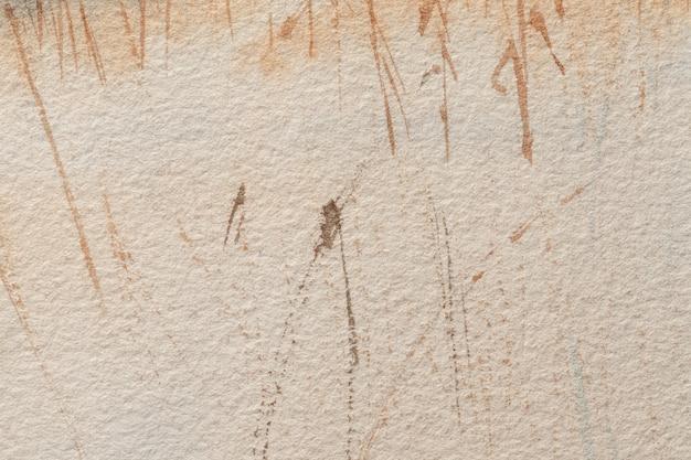 Абстрактное искусство фон коричневый и бежевый цвет. многоцветная роспись на холсте.