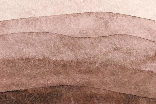 Абстрактное искусство фон коричневого и бежевого цветов. акварельная живопись на холсте с градиентом умбры.