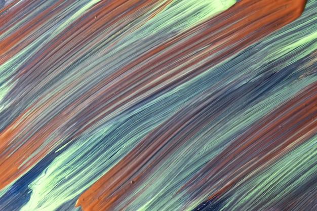 抽象芸術の背景の濃い青と茶色の色。白いストロークとスプラッシュの水彩画。アクリルアートワーク