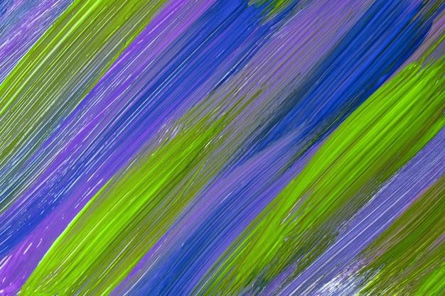 추상 미술 배경 짙은 녹색과 남색 색상입니다. 보라색 선과 스플래시와 캔버스에 수채화 그림. 올리브 얼룩 무늬가 있는 종이에 아크릴 아트웍입니다. 질감 배경입니다.