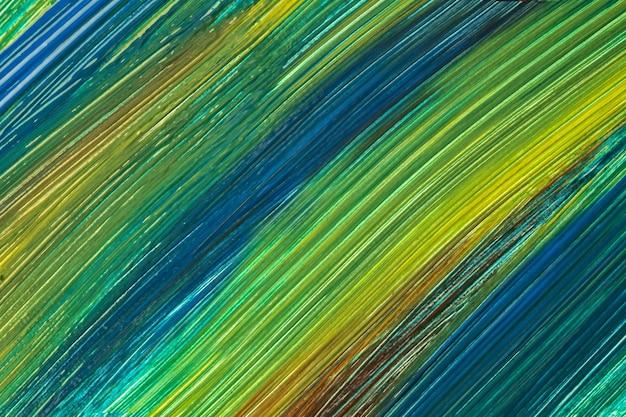 추상 미술 배경 짙은 녹색과 남색 색상입니다. 획과 스플래시가 있는 캔버스에 수채화 그림. 올리브 얼룩 무늬가 있는 종이에 아크릴 아트웍입니다. 질감 배경입니다.