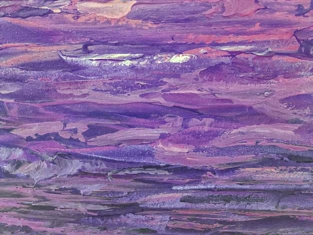 추상 미술 배경 어두운 보라색과 파란색 색상입니다. 라일락 그라데이션으로 캔버스에 수채화 그림입니다. 패턴이 있는 종이에 삽화의 조각입니다. 질감 라벤더 배경입니다.