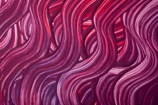 抽象芸術の背景濃い紫と赤の色。ワインのストロークとスプラッシュとキャンバスに水彩画。ブラシストロークの波状パターンの紙にアクリルアートワーク。テクスチャの背景。