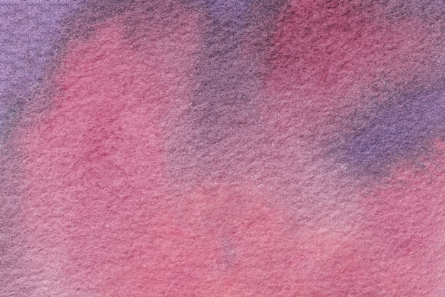 Abstract art background dark purple and pink colors. watercolor painting on paper with  violet gradient.