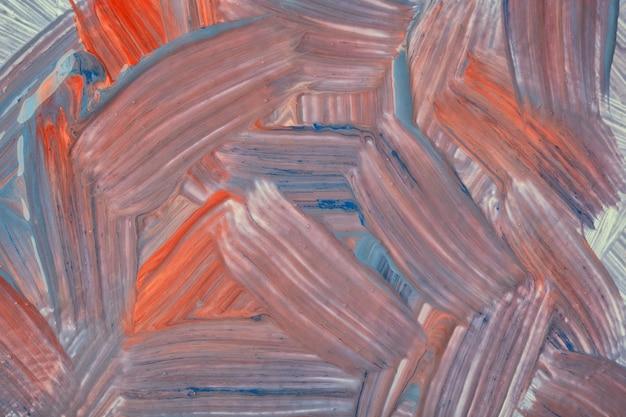 抽象芸術の背景の濃い赤と青の色。茶色のストロークとスプラッシュの水彩画。アクリルアートワーク