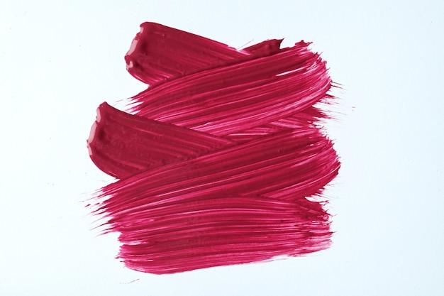 抽象芸術の背景の濃い赤と白の色。ワインのストロークとスプラッシュとキャンバスに水彩画。紫色のサンプルと紙にアクリルのアートワーク。テクスチャの背景。