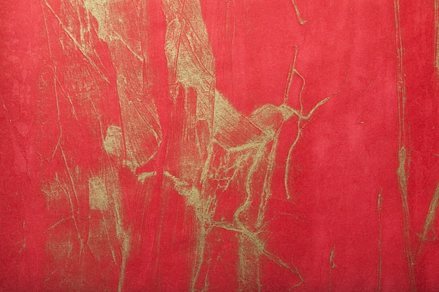 Abstract art background dark red with gold color