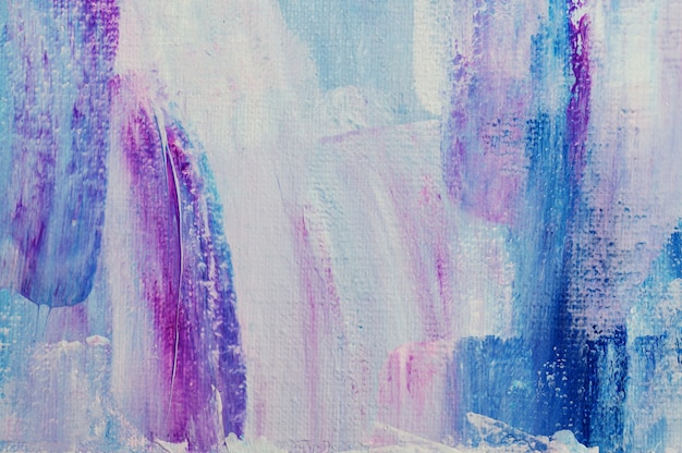 Abstract art background hand drawn acrylic painting. brushstrokes colorful texture acrylic paint