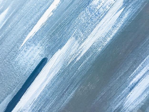 抽象芸術の背景水色と白の色。空のグラデーションでキャンバスに水彩画。ブラシストロークパターンのアクリルテクスチャ背景。
