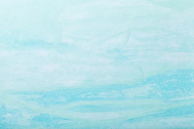 Абстрактное искусство фон светло-голубой цвет. многоцветная роспись на холсте. Premium Фотографии