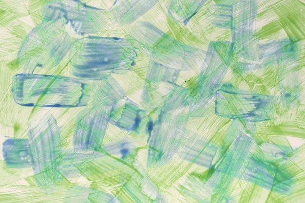 Abstract art background light blue and green colors. watercolor painting on canvas with vibrant color strokes and splash