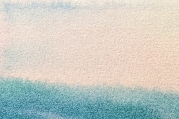 Abstract art background light blue and white colors. watercolor painting on canvas.