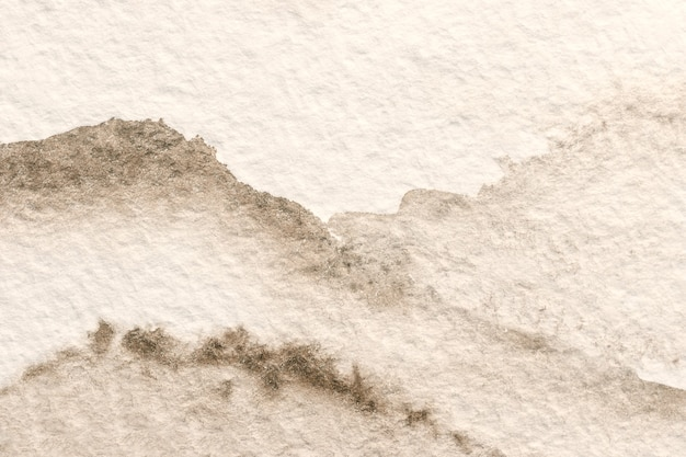 Абстрактное искусство фон светло-коричневого и белого цветов. акварельная живопись