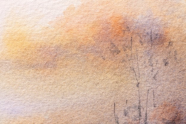Abstract art background light brown and beige colors. watercolor painting on canvas.