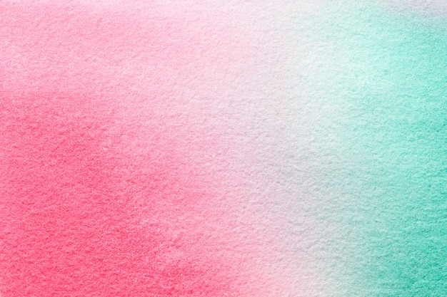 Abstract art background light cyan and pink colors. watercolor painting on canvas.