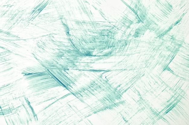 추상 미술 배경 밝은 녹색과 흰색 색상입니다. 획과 스플래시가 있는 캔버스에 수채화 그림. 청록색 점박이 패턴이 있는 종이에 아크릴 아트웍입니다. 질감 배경입니다.