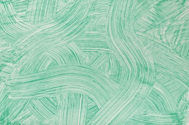 Abstract art background light green colors. watercolor painting on canvas with cyan strokes and splash