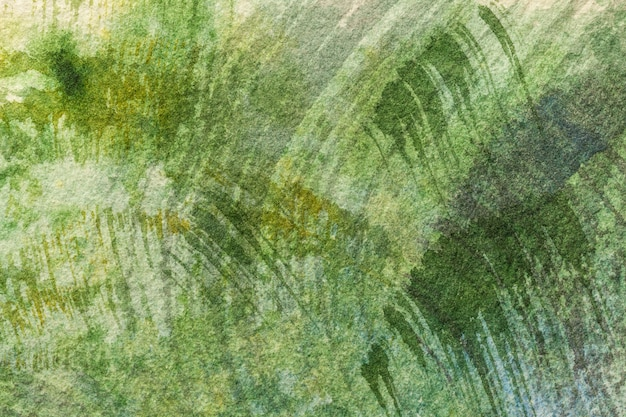 Abstract art background light green colors. watercolor painting