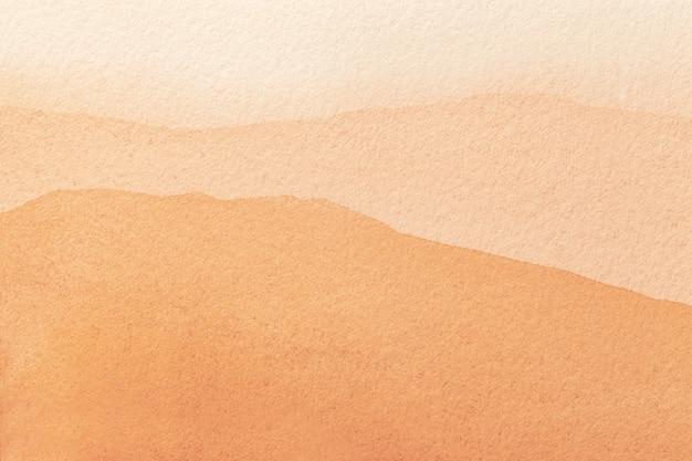 Абстрактное искусство фон светло-оранжевого и кораллового цветов. акварельная живопись